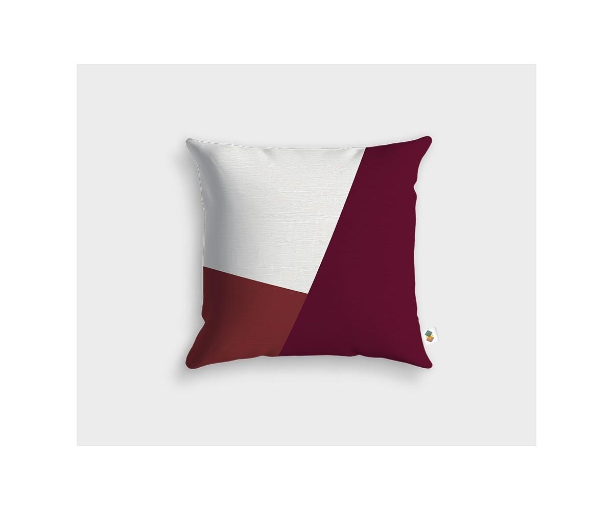 coussin blanc framboise cerise. Black Bedroom Furniture Sets. Home Design Ideas