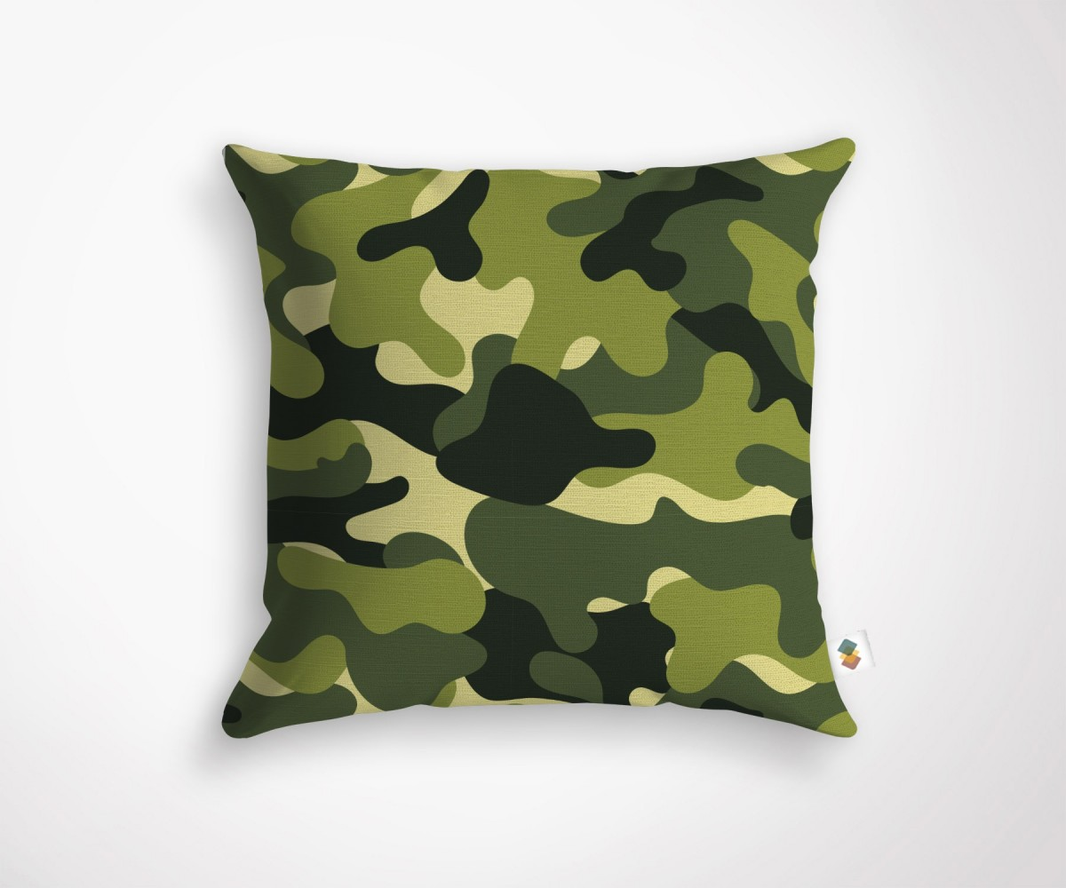 coussin d coration tendance motif camouflage. Black Bedroom Furniture Sets. Home Design Ideas