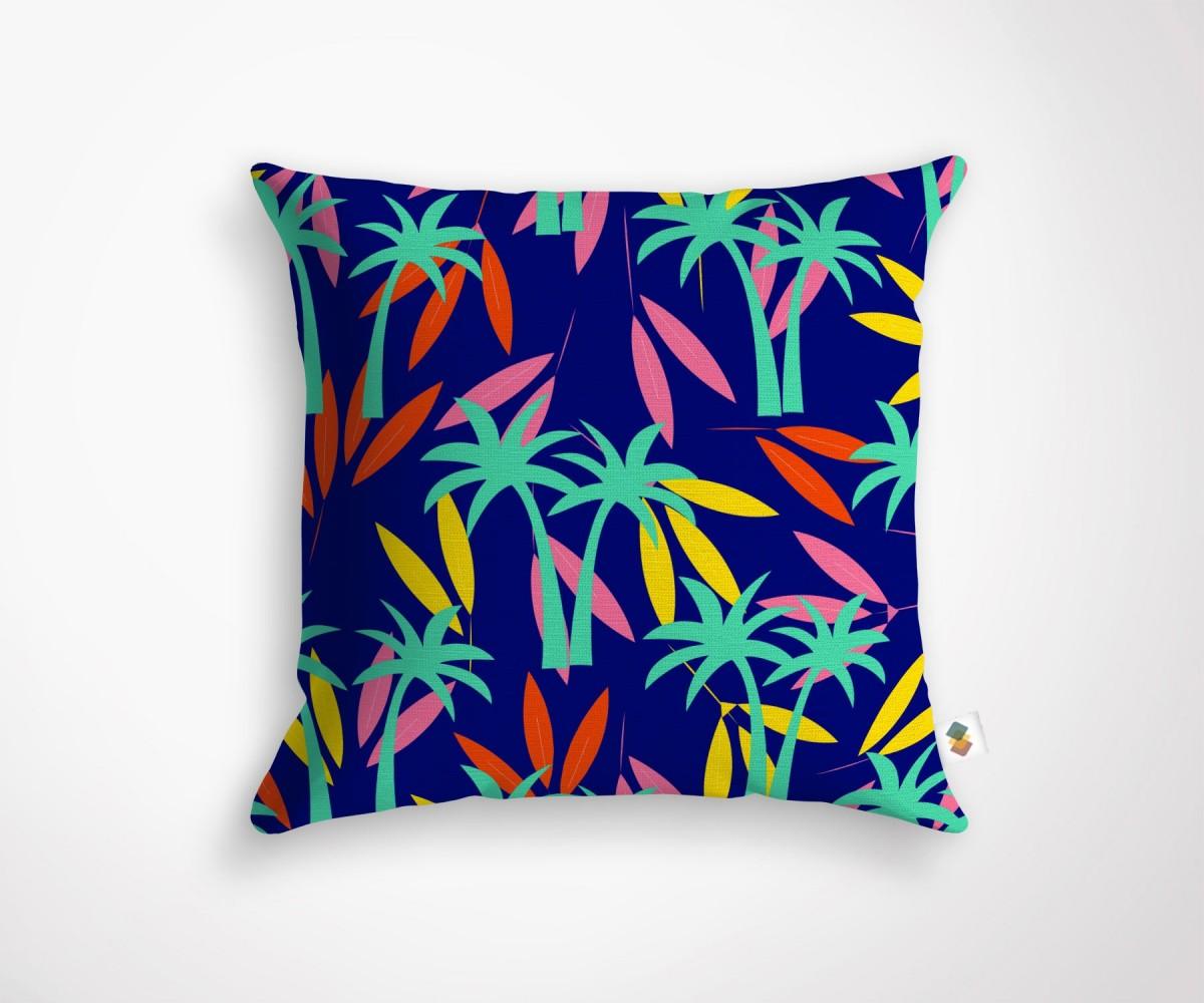 Coussin design style tropical fleuri for Housse de coussin 30x60