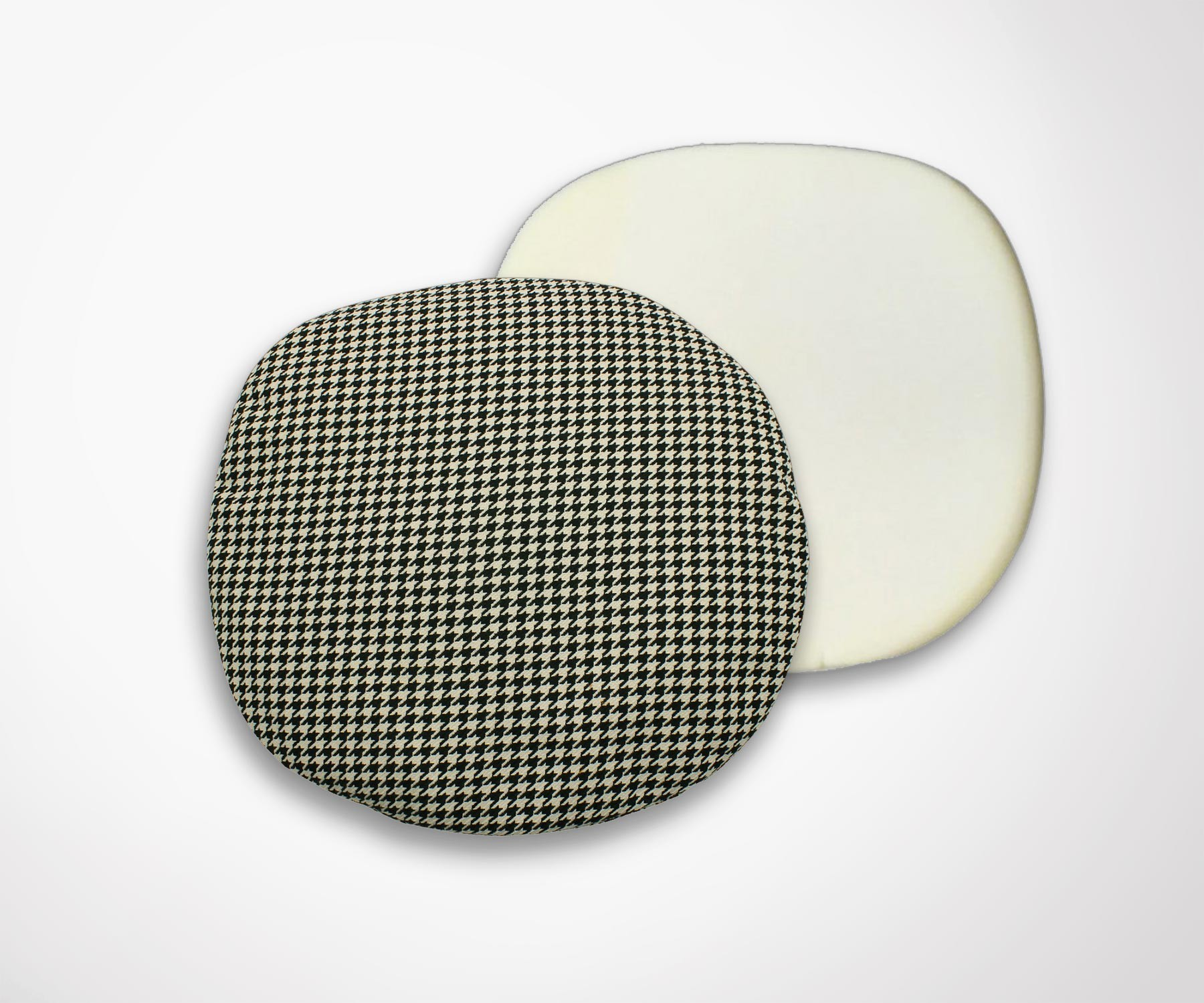 Pillow's pad for tulip chair. Houndstooth effect.