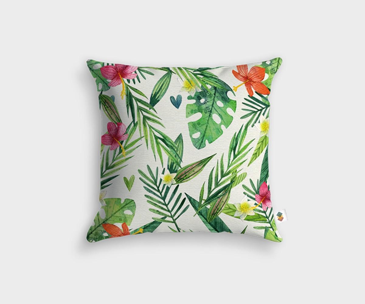 coussin décoration 45x45cm motif fleurs. fabrication main en france
