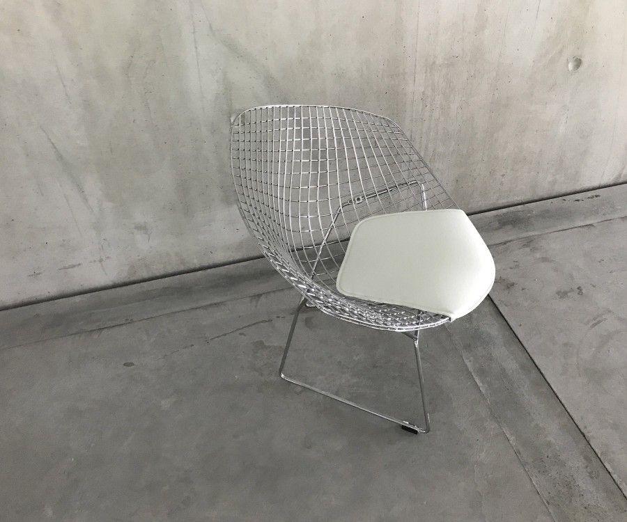 Galette design simili cuir plusieurs couleurs fauteuil diamond chair - Galette pour chaise bertoia ...