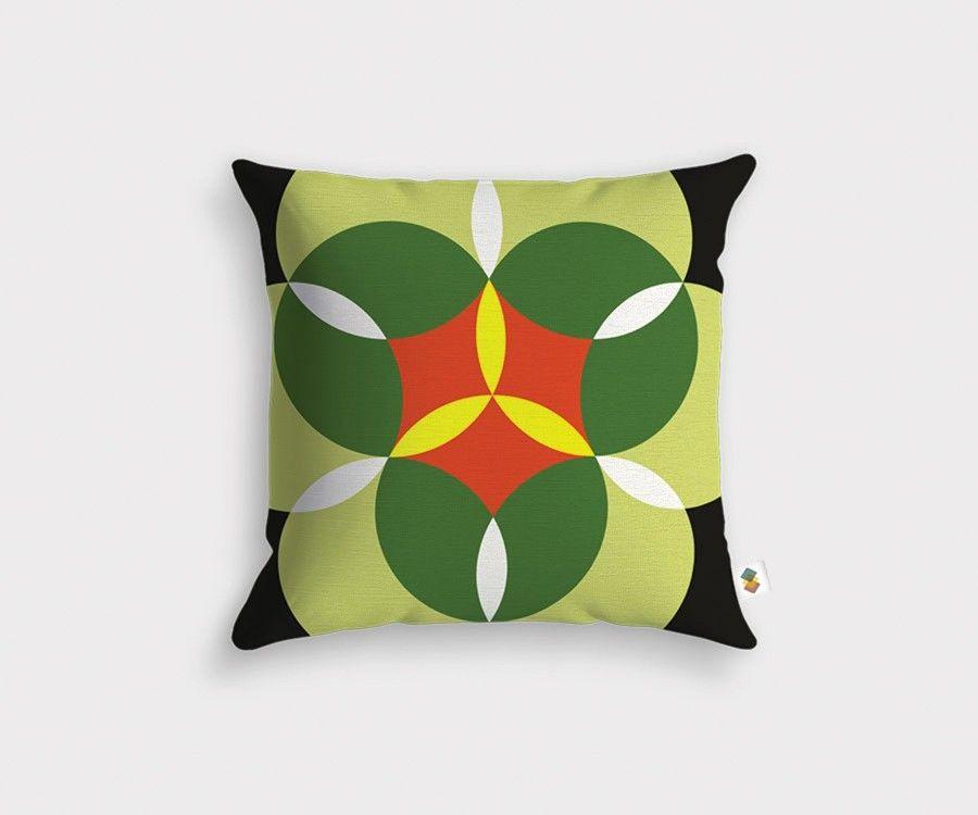 coussin motif g om trique motif nenuphare. Black Bedroom Furniture Sets. Home Design Ideas