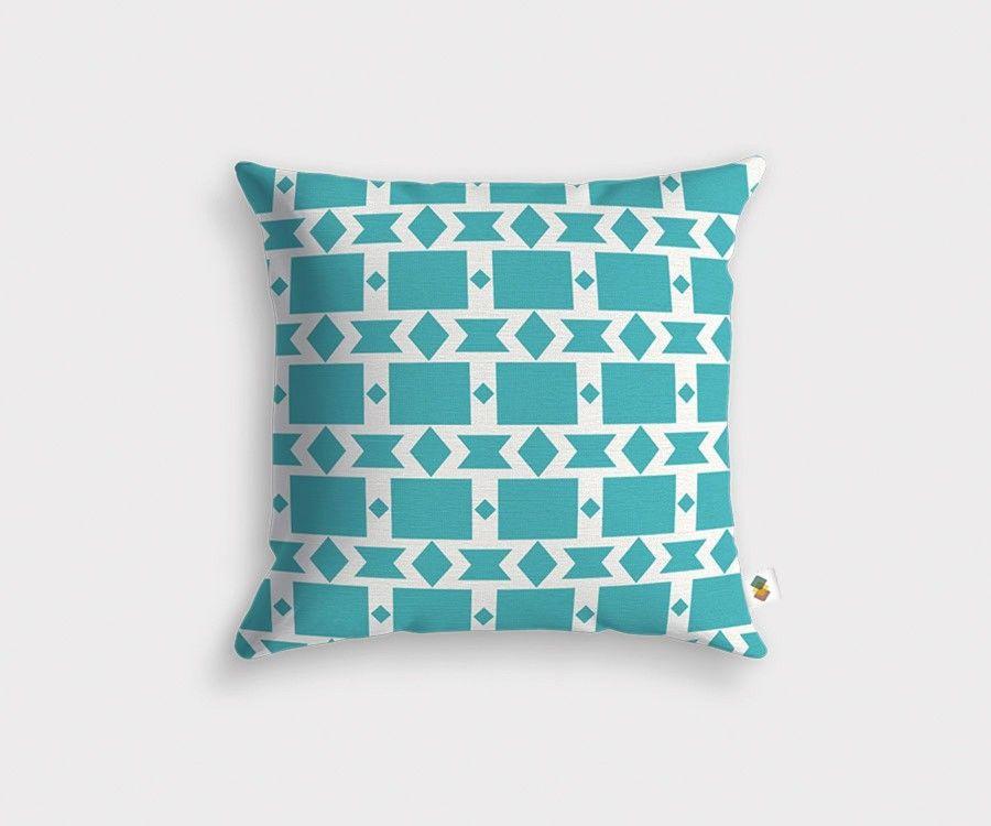 coussin style ethnique couleur bleu. Black Bedroom Furniture Sets. Home Design Ideas